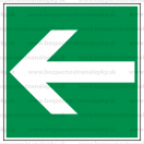 E013 - Smer na dosiahnutie bezpečia (šipka doprava / doľava) - Štvorcová záchranná nálepka bez textu