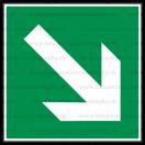 E014 - Smer na dosiahnutie bezpečia - Štvorcová záchranná nálepka bez textu