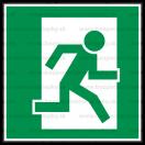 E023 - Úniková cesta - Štvorcová záchranná nálepka bez textu