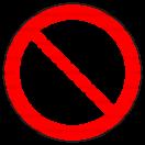 P001 - Zákaz fajčenia - Okrúhla nálepka bez textu