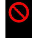 P001 - Zákaz fajčenia - Zvislá nálepka s doplnkovým textom