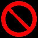 P002 - Zákaz fajčenia a používania otvoreného ohňa - Okrúhla nálepka bez textu