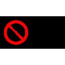 P002 - Zákaz fajčenia a používania otvoreného ohňa - Vodorovná nálepka s doplnkovým textom