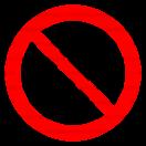 P003 - Zákaz vstupu pre chodcov - Okrúhla nálepka bez textu