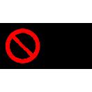 P003 - Zákaz vstupu pre chodcov - Vodorovná nálepka s doplnkovým textom