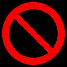 P004 - Zákaz hasenia vodou - Okrúhla nálepka bez textu