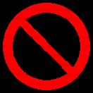 P006 - Nepovolaným vstup zakázaný - Okrúhla nálepka bez textu