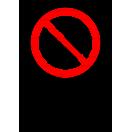 P006 - Nepovolaným vstup zakázaný - Zvislá nálepka s doplnkovým textom