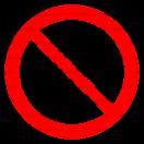 P007 - Priemyselným vozidlám vjazd zakázaný - Okrúhla nálepka bez textu