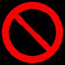 P008 - Zákaz dotýkať sa - Okrúhla nálepka bez textu