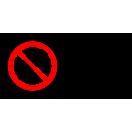 P008 - Zákaz dotýkať sa - Vodorovná nálepka s doplnkovým textom