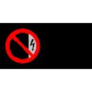 P009 - Zákaz dotýkať sa, kryt je pod napätím - Vodorovná nálepka s doplnkovým textom