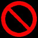 P010 - Zákaz zapnutia - Okrúhla nálepka bez textu