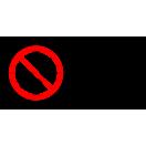 P010 - Zákaz zapnutia - Vodorovná nálepka s doplnkovým textom