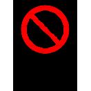 P010 - Zákaz zapnutia - Zvislá nálepka s doplnkovým textom