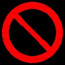 P011 - Zákaz vstupu osobám s kardiostimulátorom - Okrúhla nálepka bez textu