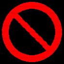 P012 - Zákaz odkladania alebo skladovania - Okrúhla nálepka bez textu