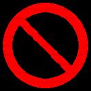 P013 - Zákaz prepravy osôb - Okrúhla nálepka bez textu