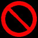 P014 - Zákaz vstupovať so zvieratami - Okrúhla nálepka bez textu