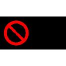 P016 - Zákaz vstupu osobám s implantátom z kovu - Vodorovná nálepka s doplnkovým textom