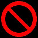 P017 - Zákaz striekania vodou - Okrúhla nálepka bez textu