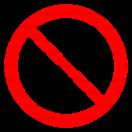 P018 - Zákaz používania mobilných telefónov - Okrúhla nálepka bez textu