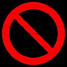 P021 - Zákaz - Okrúhla nálepka bez textu