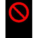P021 - Zákaz - Zvislá nálepka s doplnkovým textom