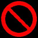 P030 - Zákaz jedenia a pitia na tomto mieste - Okrúhla nálepka bez textu