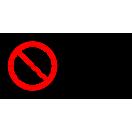 P030 - Zákaz jedenia a pitia na tomto mieste - Vodorovná nálepka s doplnkovým textom