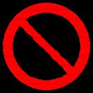 P031 - Zákaz výstupu nepovolaným osobám - Okrúhla nálepka bez textu