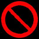 P032 - Zákaz vstupu za pohyblivé rameno - Okrúhla nálepka bez textu