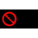 P032 - Zákaz vstupu za pohyblivé rameno - Vodorovná nálepka s doplnkovým textom