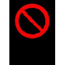 P032 - Zákaz vstupu za pohyblivé rameno - Zvislá nálepka s doplnkovým textom