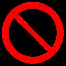 P033 - Zákaz siahania do plniaceho otvoru - Okrúhla nálepka bez textu
