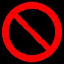 P034 - Zákaz jazdy na paletových vozíkoch - Okrúhla nálepka bez textu