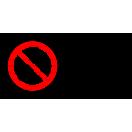 P034 - Zákaz jazdy na paletových vozíkoch - Vodorovná nálepka s doplnkovým textom