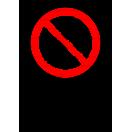 P034 - Zákaz jazdy na paletových vozíkoch - Zvislá nálepka s doplnkovým textom