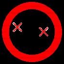 P035 - Zákaz dopravy osôb na čelnom nakladači - Okrúhla nálepka bez textu