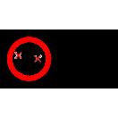 P035 - Zákaz dopravy osôb na čelnom nakladači - Vodorovná nálepka s doplnkovým textom