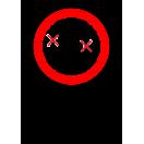 P035 - Zákaz dopravy osôb na čelnom nakladači - Zvislá nálepka s doplnkovým textom