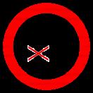 P036 - Zákaz vstupu pod zodvihnuté bremeno - Okrúhla nálepka bez textu