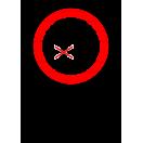 P036 - Zákaz vstupu pod zodvihnuté bremeno - Zvislá nálepka s doplnkovým textom