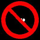P037 - Zákaz vstupu so zbraňou - Okrúhla nálepka bez textu