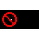 P037 - Zákaz vstupu so zbraňou - Vodorovná nálepka s doplnkovým textom