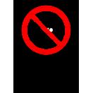 P037 - Zákaz vstupu so zbraňou - Zvislá nálepka s doplnkovým textom