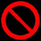 P038 - Zákaz vstupu s korčuľami - Okrúhla nálepka bez textu