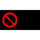 P038 - Zákaz vstupu s korčuľami - Vodorovná nálepka s doplnkovým textom