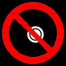 P039 - Zákaz fotenia - Okrúhla nálepka bez textu