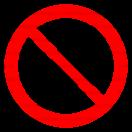 P040 - Zákaz filmovania - Okrúhla nálepka bez textu